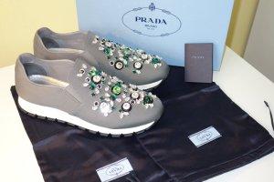 Org. PRADA Runway Sneaker mit Strasssteinen UVP:1190€ NEU+Karton Gr.39,5