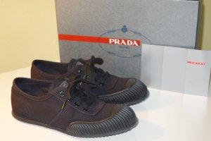 Org. PRADA Sneaker aus Canvas mit coolem Schnitt Gr.37 wie neu inkl. Karton