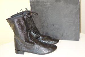 Repetto Ocieplane botki czarny Skóra