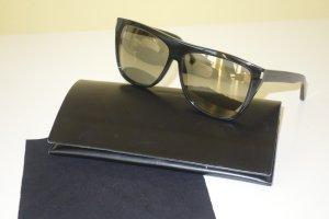 Org. SAINT LAURENT SL1 oversized Sonnenbrille gold verspiegelt inkl.Etui