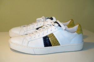 Org. SANTONI Sneaker aus Leder mit Kroko-Details Gr.38