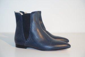 Org. SCHO SHOES Milano Chelsea Boots in dunkelblau Leder Gr.36 NEU