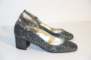 Scho Shoes Milano Tacones Mary Jane gris claro-color plata