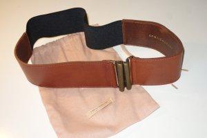 Erika Cavallini Waist Belt cognac-coloured-black leather