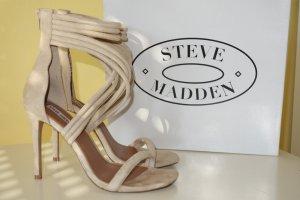 Org. STEVE MADDEN Sandaletten in hellbeige/blush  Gr.40 inkl.Karton