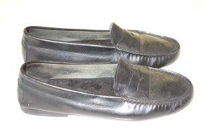 Org. TOD'S Loafer aus Leder in schwarz Gr.37,5