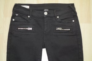Org. TRUE RELIGION Casey low rise super skinny Jeans in schwarz Gr.26