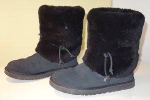 Org. UGG Australia Alaia Fell-Boots in schwarz Lammfell Gr.39 inkl.Karton