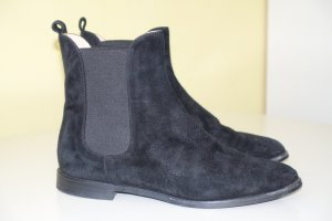 Org. UNÜTZER Chelsea Boots aus Veloursleder in schwarz Gr.37,5