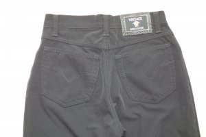 Org. VERSACE Jeans Couture Medusa vintage highwaist slim Stoff-Hose in schwarz Gr.29