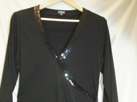 Wraparound Shirt black polyester