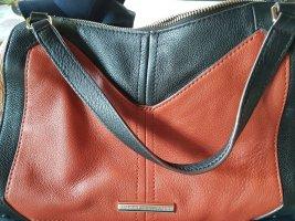Orginal neue  Tommy Hilfiger 100% echt  Leder Umhängetasche oder Handtasche in braun rot schwarz!!