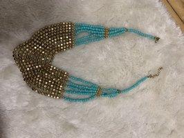 Accessoires Naszyjnik z perłami jasnoniebieski-złoto