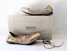 Orig. Armani Collezioni Ballerinas/Lace up Schnür-Design/Gold/NEU!