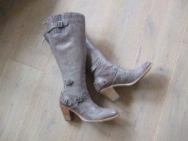Belstaff Heel Boots grey brown leather