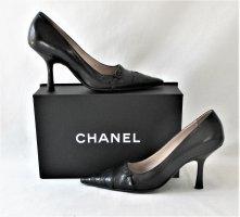 Orig. Chanel Pumps Kalbsleder & Krokodilleder /  HERVORRAGEND!