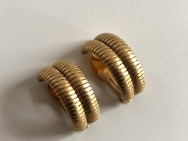 Orig. Christian Dior Designer XL Ohrclips gold Clips Ohrringe 18K gold vergoldet