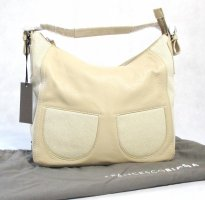 Orig. Designer Handtasche / Leder / Leinen / Beige/NEU mit Etikett !