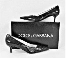 """Orig. Dolce & Gabbana """"Black Label"""" Aalleder Pumps/ NEU!"""