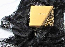 Orig. Dolce & Gabbana Schal-Tuch/ Spitze/130 X 130 cm/ schwarz-transparent/ NEU!