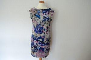 Orig. ERDEM blaues Print Seidenkleid DE36 IT40 FR38 UK10 Kleid Seide