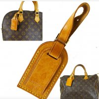 ORIG. LOUIS VUITTON ADRESS ANHÄNGER TAG LEDER SMALL CHARM SPEEDY ALMA / SEHR GUTER ZUSTAND