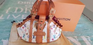 Orig Louis Vuitton mit Staubbeutel Schloss limited Edition npr über 2000 milticolor top  Patina
