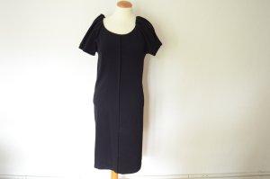 Orig. PRADA Abendkleid 34 IT 40 dunkelblau mit betonten Armen Kleid