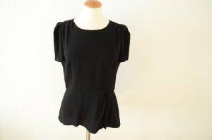 Orig. PRADA aktuelle Couture Hauptlinie Bluse 38 IT 44 mit Schößchen schwarz