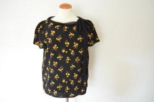 Orig. PRADA Couture Bluse IT 44 D 38 Blümchen Print 100% Seide Seidenbluse Blumen