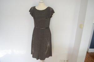 Orig. PRADA Kleid geringelt IT42 D36 geringelt teure Hauptlinie schwarz mit Streifen