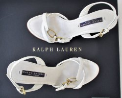Orig. Ralph Lauren COLLECTION Sandalen / Leder / Weiss/Gr.37/ Super Zustand!
