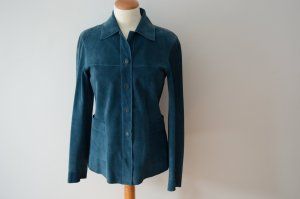 Orig. STRENESSE BLUE  Hemd Lederjacke 36 neuwertig petrolfarben