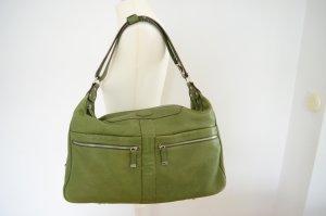Orig. TOD`s XL Tote Bag Beutel Handtasche Shopper Leder leuchtend grün