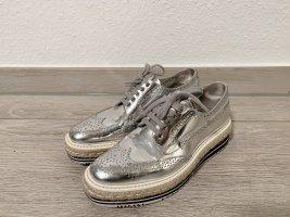 origina Prada platform Sneaker. Silber.Gr:37