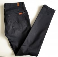 Original 7 For All Mankind The Skinny Jeans anthrazit W29 Hüftjeans