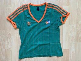 Adidas Koszulka sportowa leśna zieleń-pomarańczowy