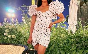 Original Alessandra Rich polka dot Kleid weiß