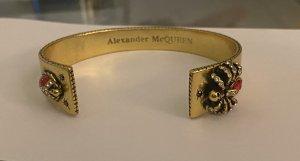 Alexander McQueen Bangle złoto-głęboka czerwień