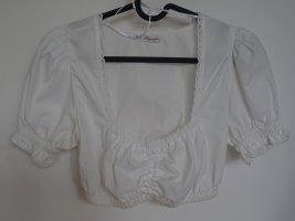 Alpenfee Folkloristische blouse wit Katoen