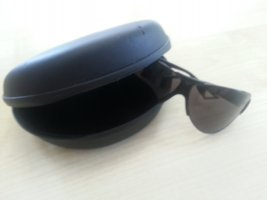 Armani Aviator Glasses black synthetic material