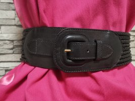 Original Balenciaga Gürtel schwarz Leder geflochten Gr 34