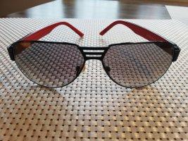 BMW Lunettes de soleil ovales noir-rouge