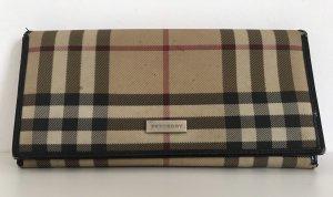 Original Burberry Brieftasche, Portemonnaie, Canvas, Check-Design