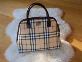 Original Burberry Handtasche Alma Nova Check beige Tasche Henkeltasche Luxus