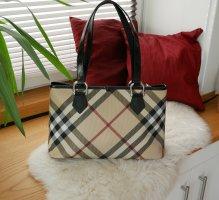 Original Burberry Handtasche Giant Check schwarz groß Shopper Tasche Henkeltasche Schultertasche Luxus Designer