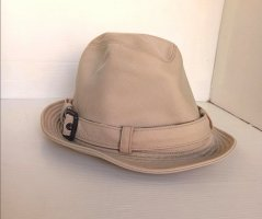 Burberry Bucket Hat natural white cotton