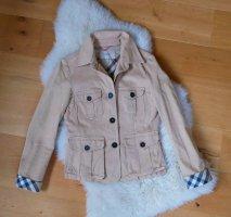 Original Burberry Jacke leichte beige Check Trenchcoat Gr.36/S 38/M honey beige Blazer Trenchjacke Trench Luxus