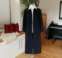 Original Burberry Mantel 100% Cashmere Dunkelblau Kaschmir Gr.42 XL 44 XXL LANG Wintermantel langer Kaschmirmantel Luxus blau