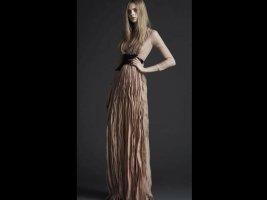 Burberry Prorsum Evening Dress beige silk